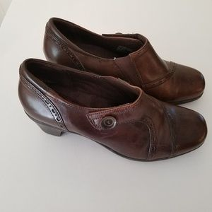 EARTH ORIGINS SHOES BROWN LEATHER SZ 10
